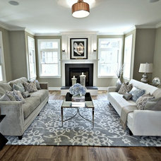 Traditional Living Room by Elite Staging and Redesign, LLC