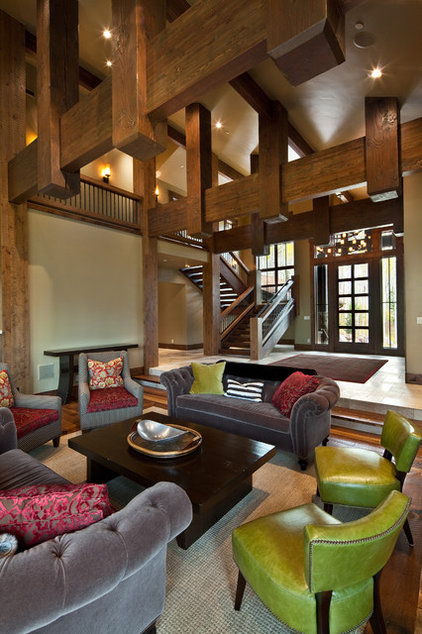 Rustic Living Room by Jaffa Group Design Build