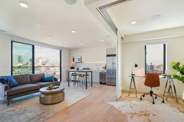 コンテンポラリー リビング by Kerman Morris Architects, LLP