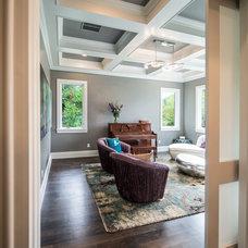 Craftsman Living Room by Mezger Homes