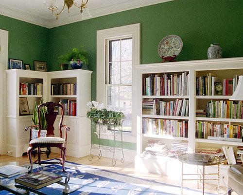Soggiorno vittoriano con pareti rosse - Foto, Idee, Arredamento