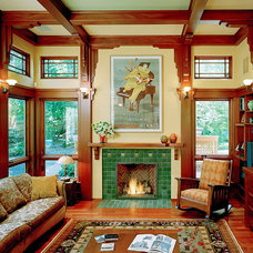 Traditional Living Room by Landmark Services Inc