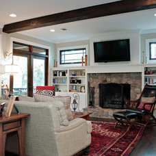 Traditional Living Room by Wilson Associates Real Estate