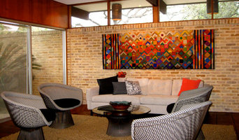 1960's Architect's home refurbished with color, textiles and furniture