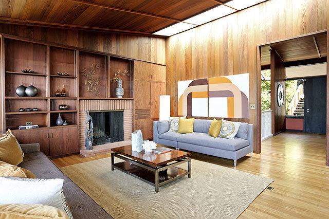 Midcentury Living Room by Mid Century Art Supergraphics