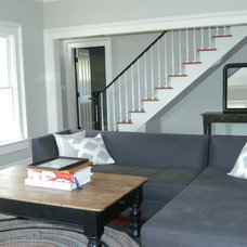Farmhouse Living Room by KATE JOHNS AIA