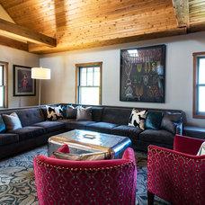 Eclectic Living Room by Amanda Miller Design Studio