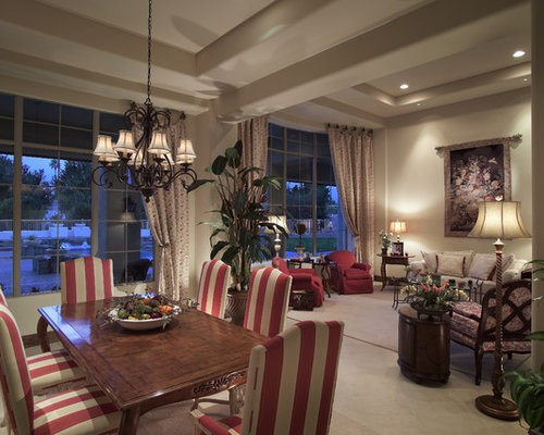 Tuscan Living Room Photo In Phoenix