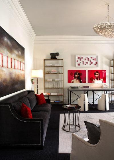 Contemporary Living Room by Dillard Pierce Design Associates