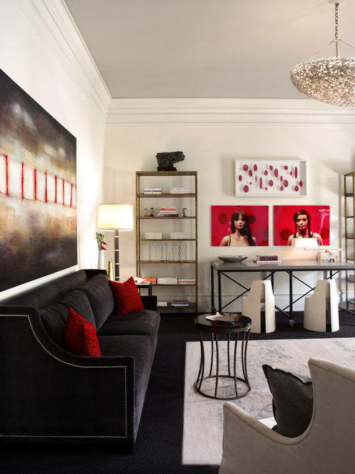 Living Room Ideas Red And Black red and black living room ideas & design photos | houzz
