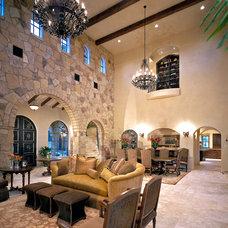 Mediterranean Living Room by Joseph Volpe, Designer