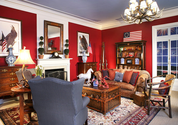 Traditional Living Room by Diane Durocher Interiors