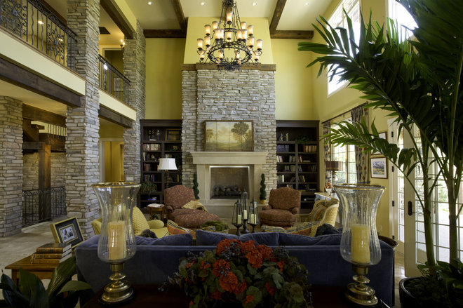 Mediterranean Living Room by Lawrence Architecture, Inc.