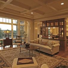 Traditional Living Room by Charles Cudd De Novo, LLC