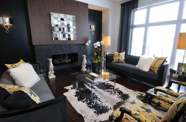 Contemporary Living Room by Atmosphere Interior Design Inc.