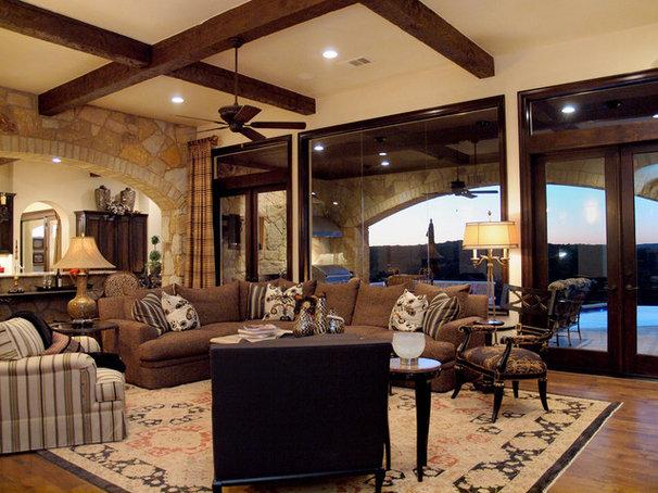 Mediterranean Living Room by Design Visions of Austin