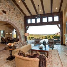 Mediterranean Living Room by Jenkins Custom Homes