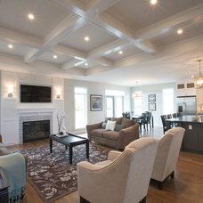 Contemporary Living Room by Dowalt Custom Homes Inc