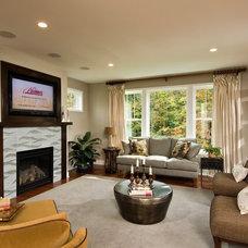 Contemporary Living Room by Plum and Crimson Fine Interior Design