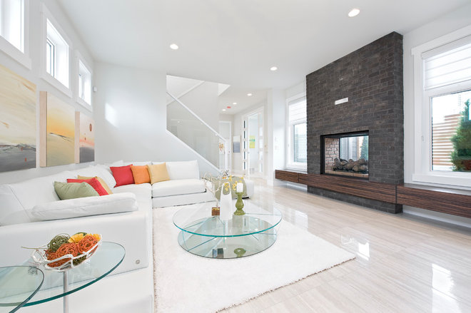 Contemporary Living Room by Homes by Avi