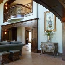 Traditional Living Room by Carol Ann Designs
