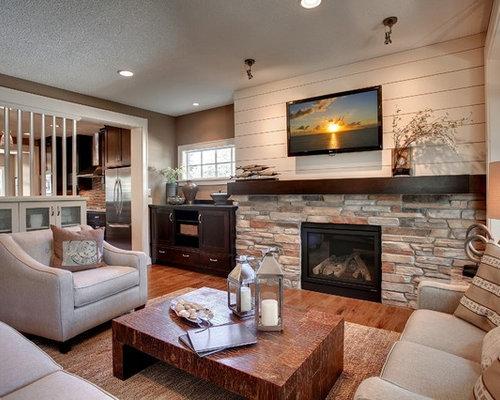 rustikale wohnzimmer mit kamin ideen design bilder beispiele. Black Bedroom Furniture Sets. Home Design Ideas