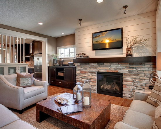 Living Room With Fireplace And Tv On Different Walls rustic living room design ideas, remodels & photos | houzz
