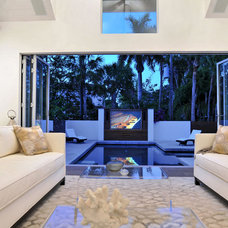 Contemporary Living Room by SmartHouse Integration LLC