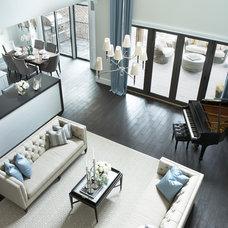 Contemporary Living Room by Milestone Custom Homes