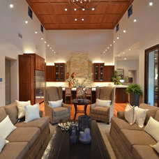 Contemporary Living Room by Kyle Lindsey Custom Homes