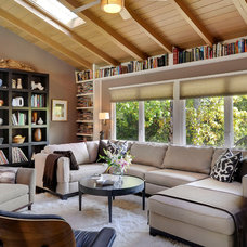 Contemporary Living Room by John Muir Photography