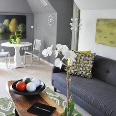 Contemporary Living Room by Thomas & Jayne Interior Design