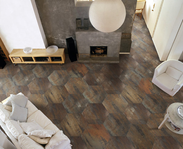 Eclectic Living Room 2012 Tile Trends Photography - Living Spaces with Coverings Preview
