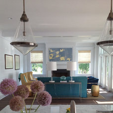 Beach Style Living Room by Our Town Plans