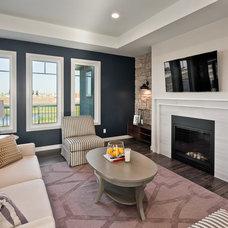 Transitional Living Room by Dowalt Custom Homes Inc