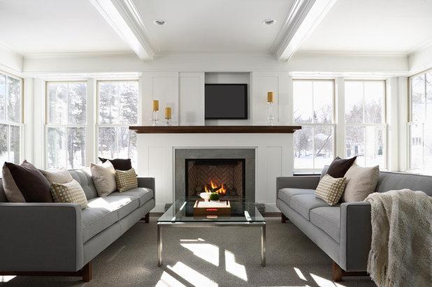 Contemporary Living Room by DiGiacomo Homes & Renovation