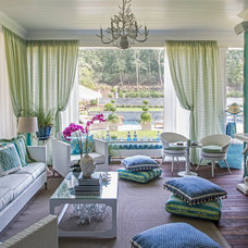 Beach Style Living Room by Kim E Courtney Interiors & Design Inc
