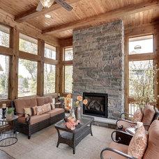 Rustic Living Room by Highmark Builders