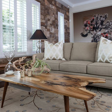 Farmhouse Living Room by Keesee and Associates, Inc.