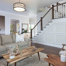 Transitional Living Room by NWC Construction