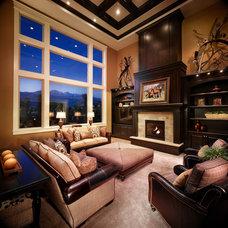 Traditional Living Room by Joe Carrick Design - Custom Home Design
