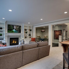 Traditional Living Room by TC Homebuilders Inc