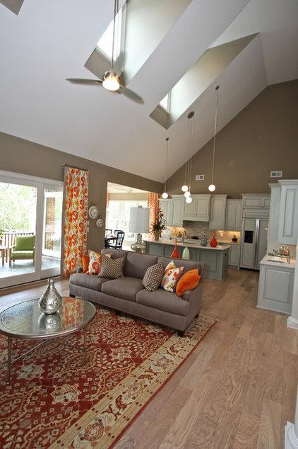 Craftsman Living Room by Dunbar Builders