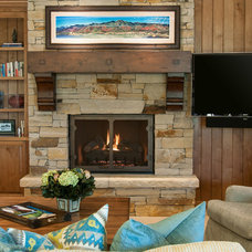 Rustic Living Room by Cameo Homes Inc.