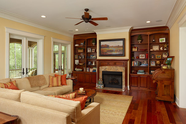 Traditional Living Room by Priester's Custom Contracting, LLC