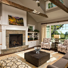 Transitional Living Room by Witt Construction