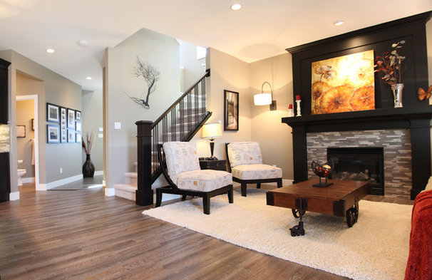 Contemporary Living Room by Milestone Homes