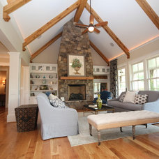 Traditional Living Room by Summit Custom Homes