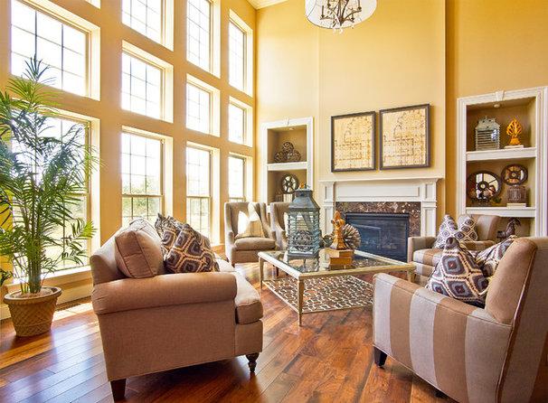 Traditional Living Room by Fischer & Frichtel