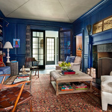 Traditional Living Room by Nick Johnson Interiors